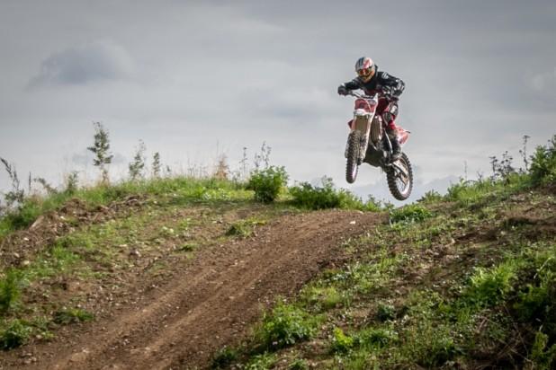 motocross. Billede af motocrosskører