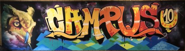 Street Art. Billede lavet af holdet. Der står CampusU10