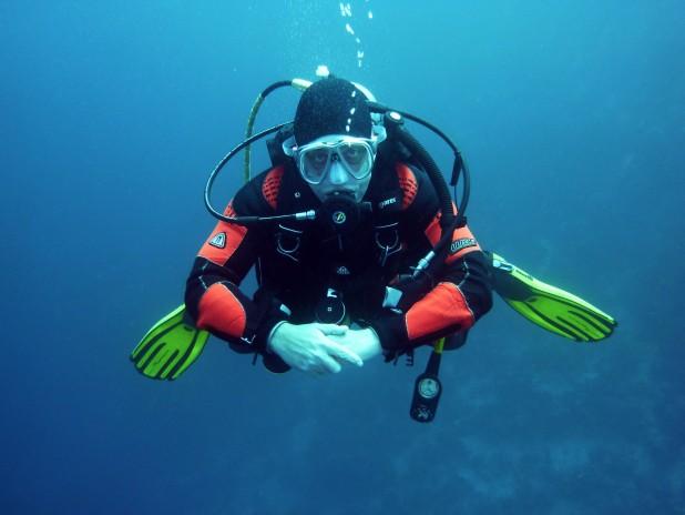 pexels-pixabay-37530. Billede af dykker med udstyr. Taget af Pixabay