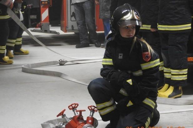 Brandkadet. Billede af brandøvelse