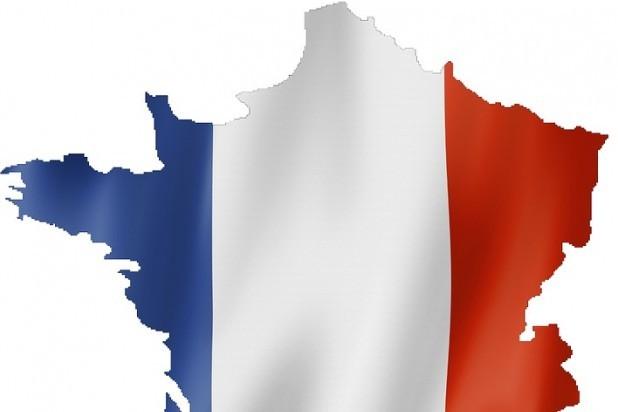 Fransk. Billede af det franske flag, der dækker Frankrig