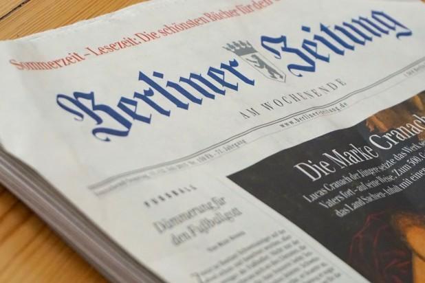 Tysk. Billede af den tyske avis Berliner Zeitung.  Taget af Ingo Joseph