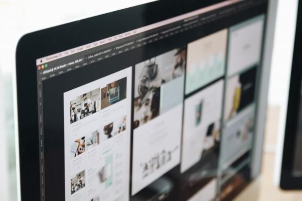 Grafisk design. Billede af webdesign